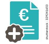 euro medical invoice vector... | Shutterstock .eps vector #329241653