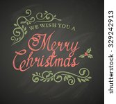 christmas lettering with... | Shutterstock .eps vector #329242913