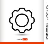 gear  linear icon. one of a set ...