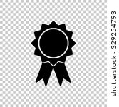 badge with ribbons vector icon  ... | Shutterstock .eps vector #329254793