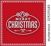 season's greetings label  merry ... | Shutterstock .eps vector #329255183