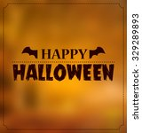 halloween bat wings symbol and... | Shutterstock .eps vector #329289893