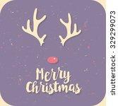 retro vintage minimal merry... | Shutterstock .eps vector #329299073