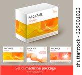 set of medisine package design...