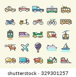 set of 25 minimalistic solid... | Shutterstock .eps vector #329301257