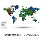 polygonal world map vector. | Shutterstock .eps vector #329303873