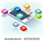 phone apps | Shutterstock .eps vector #329325653