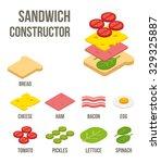 isometric sandwich ingredients  ... | Shutterstock .eps vector #329325887