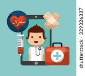 healthcare concept design ... | Shutterstock .eps vector #329326337