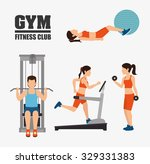 gym and fitness lifestyle... | Shutterstock .eps vector #329331383