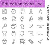 education icons set of thin... | Shutterstock .eps vector #329333753