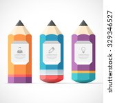 set of colorful pencil banners... | Shutterstock .eps vector #329346527