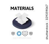 materials icon  vector symbol...