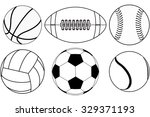 basketball ball  baseball ball  ... | Shutterstock . vector #329371193