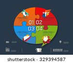 vector illustration of colorful ... | Shutterstock .eps vector #329394587