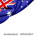 australia   flag of silk with... | Shutterstock . vector #329412017