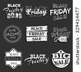 black friday label  badge with... | Shutterstock .eps vector #329414477