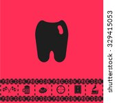 tooth. black flat vector icon...   Shutterstock .eps vector #329415053