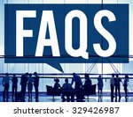 frequently asked questions faq... | Shutterstock . vector #329426987