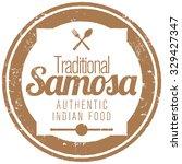 samosa stamp | Shutterstock .eps vector #329427347