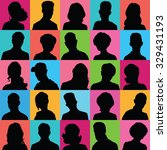 avatars of silhouettes with... | Shutterstock .eps vector #329431193
