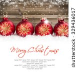 still life with christmas balls ... | Shutterstock . vector #329436017
