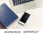 open laptop  business devices | Shutterstock . vector #329449127