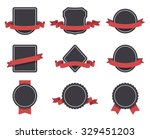 labels and ribbons set. design... | Shutterstock . vector #329451203