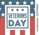 veterans day vector background | Shutterstock .eps vector #329456807