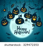 halloween background of... | Shutterstock .eps vector #329472353