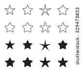 star icons isolated on a white... | Shutterstock .eps vector #329473853