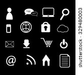 internet icons set illustration | Shutterstock .eps vector #329480003