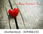 valentines day card with copy... | Shutterstock . vector #329486153