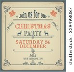 christmas party invatation | Shutterstock .eps vector #329498087