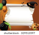 halloween witch background a... | Shutterstock .eps vector #329513597