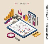 finance concept in 3d isometric ... | Shutterstock .eps vector #329518583