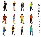 people isometric icons set with ... | Shutterstock .eps vector #329519633