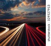 long exposure abstract urban... | Shutterstock . vector #329527913