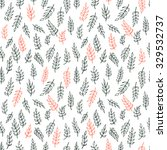 seamless pattern. hand drawn... | Shutterstock .eps vector #329532737