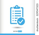 checklist icon. one of set web...