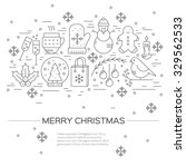 christmas celebration concept   ... | Shutterstock .eps vector #329562533