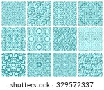 set of 12 simple seamless... | Shutterstock .eps vector #329572337