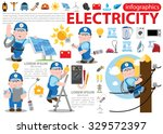 electricity infographics ... | Shutterstock .eps vector #329572397