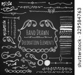hand drawn decoration elements. | Shutterstock .eps vector #329584763