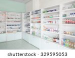 pharmacy store interior with... | Shutterstock . vector #329595053