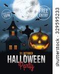 halloween party poster design | Shutterstock .eps vector #329595233