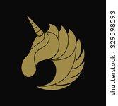 unicorn logo vector | Shutterstock .eps vector #329598593