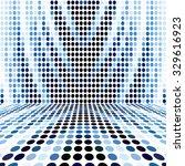 blue dot empty perspective... | Shutterstock . vector #329616923