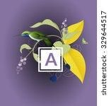 vintage bird background | Shutterstock .eps vector #329644517