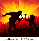 poster for concerts | Shutterstock .eps vector #329653673
